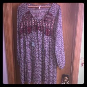 Boho Mini Dress Size XXL